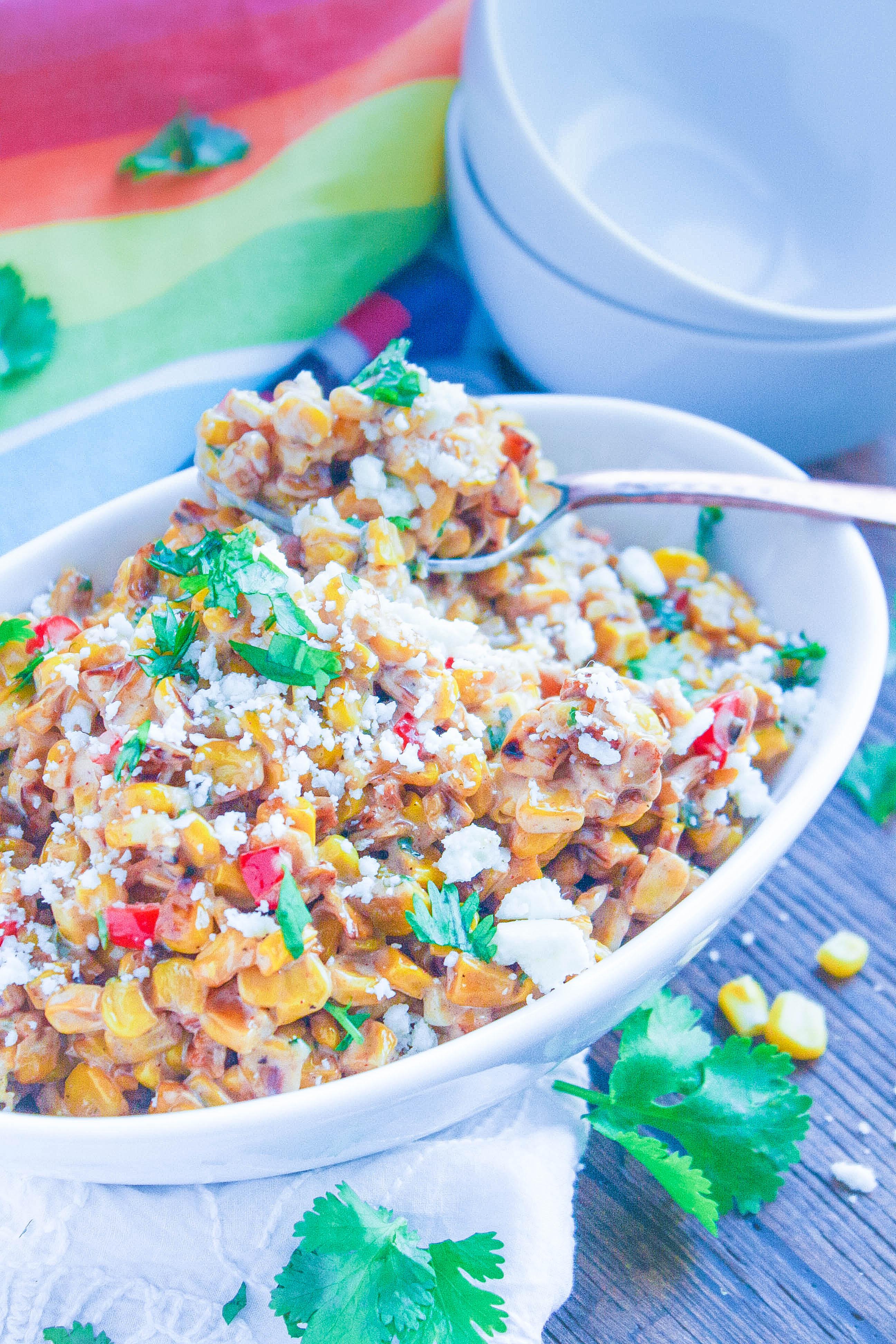 Mexican Street Corn Salad is a fun side for the summer. The flavors are fabulous in this Mexican Street Corn Salad!