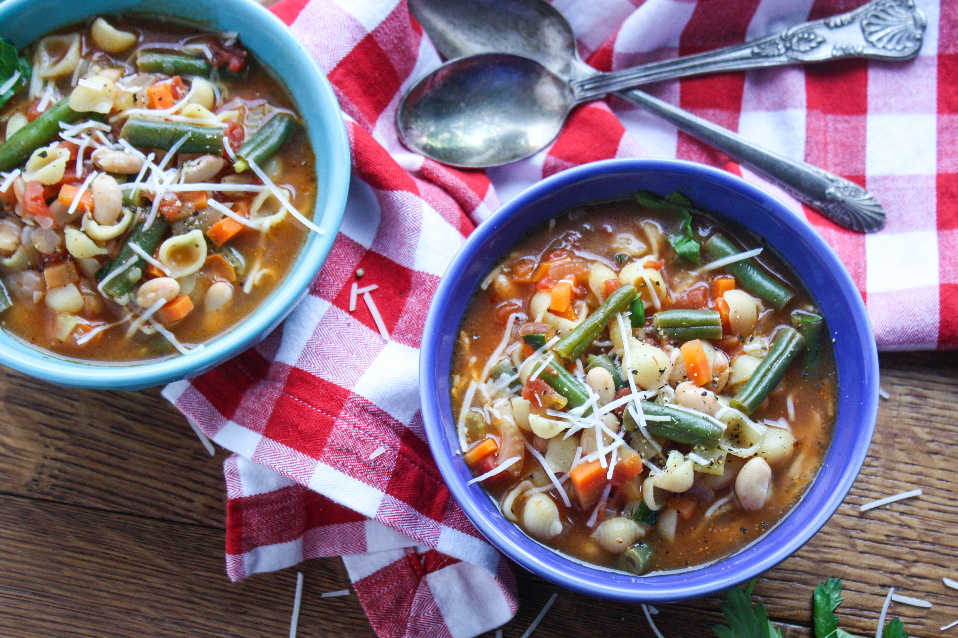 Minestrone Soup is a delightful and comforting soup for any night of the week! Minestrone soup is colorful, filling, and easy to make, too!