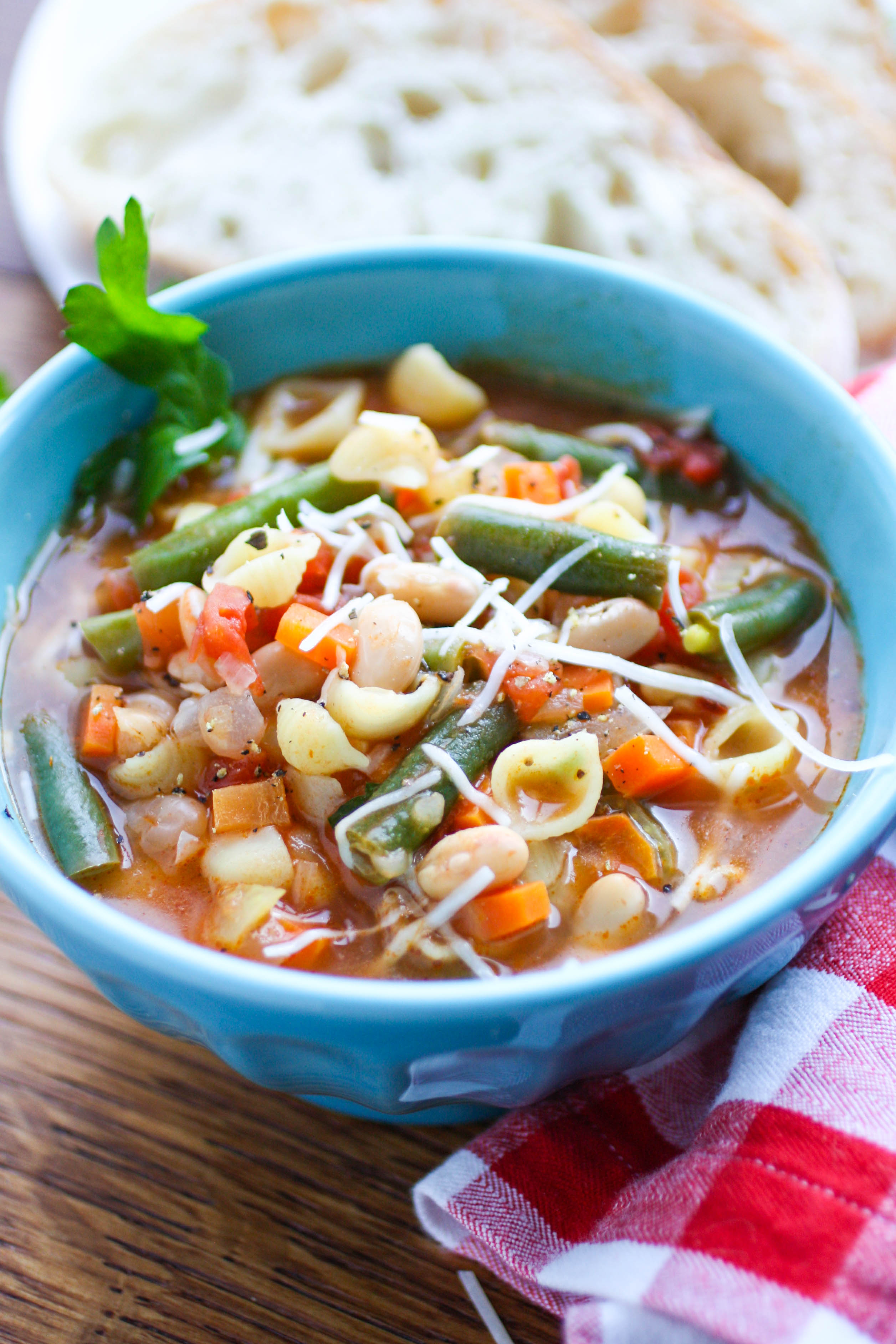 Minestrone soup is super filling and delicious. You'll love minestrone soup when you want a filling and flavorful dish.