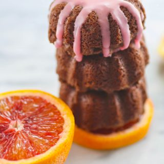 Mini Blood Orange Scented Chocolate-Ricotta Cakes are a lovely dessert. You'll love the blood orange flavor in these mini cakes.
