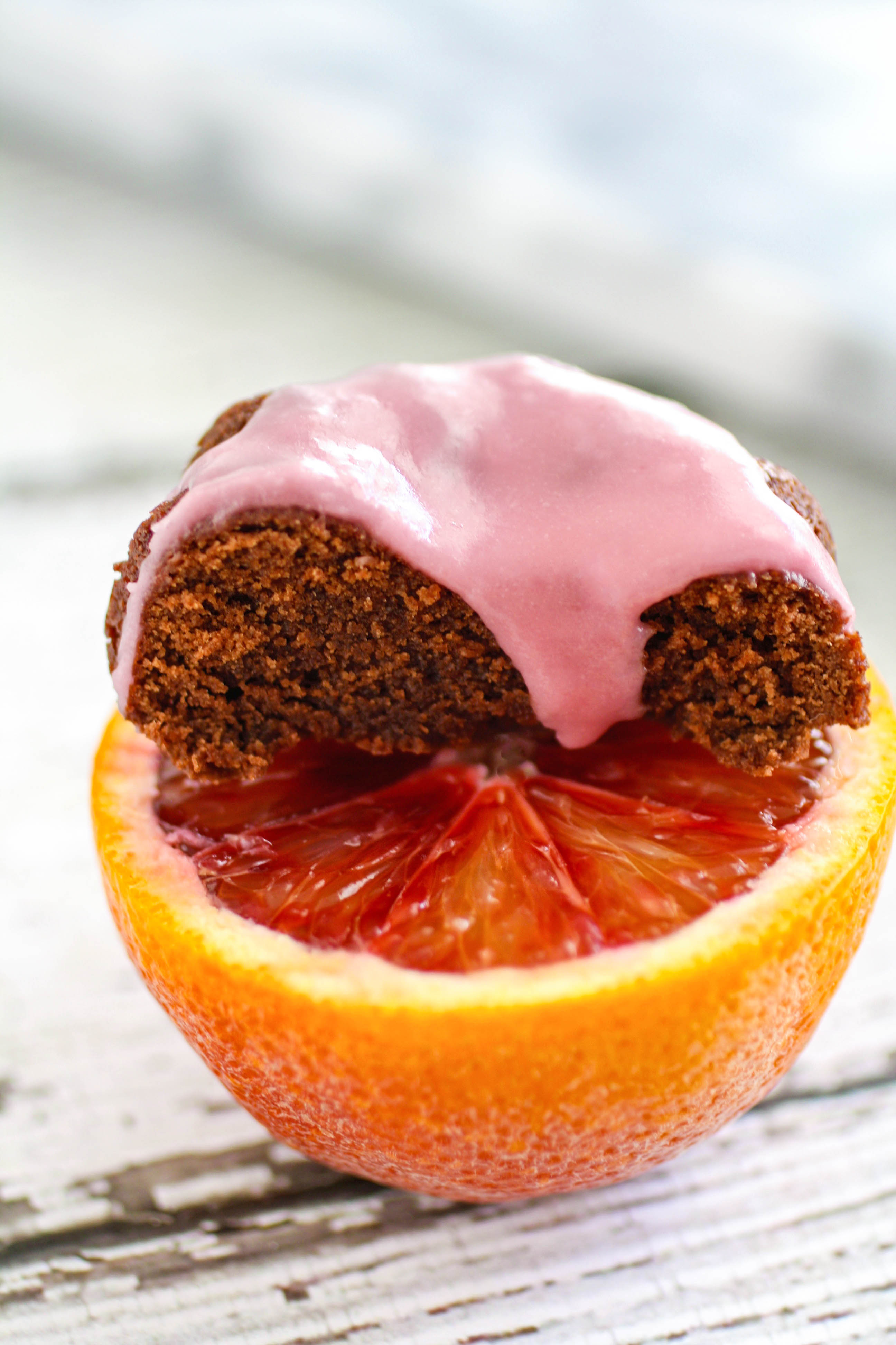 Mini Blood Orange Scented Chocolate-Ricotta Cakes make a lovely dessert! The blood orange flavor in these mini cakes is amazing!