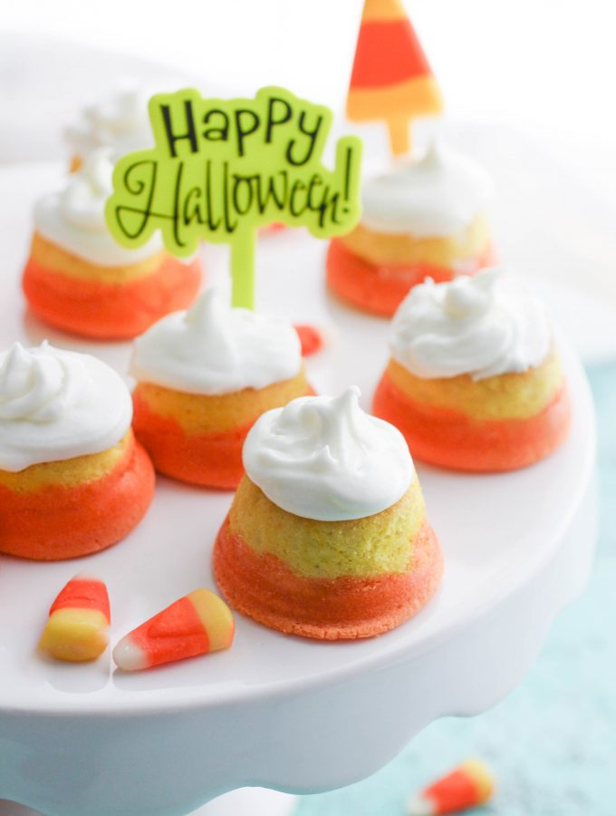 "Mini ""Candy Corn"" Cupcakes with Buttercream Frosting"