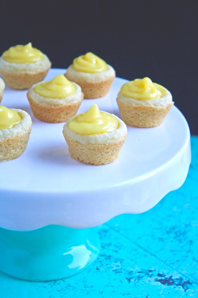 Mini Sugar Cookie Cups with Lemon Curd are quite a bright, lovely treat!
