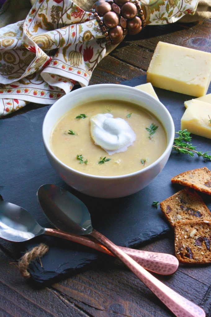 Mushroom and Chestnut Soup is an elegant soup for a special meal.