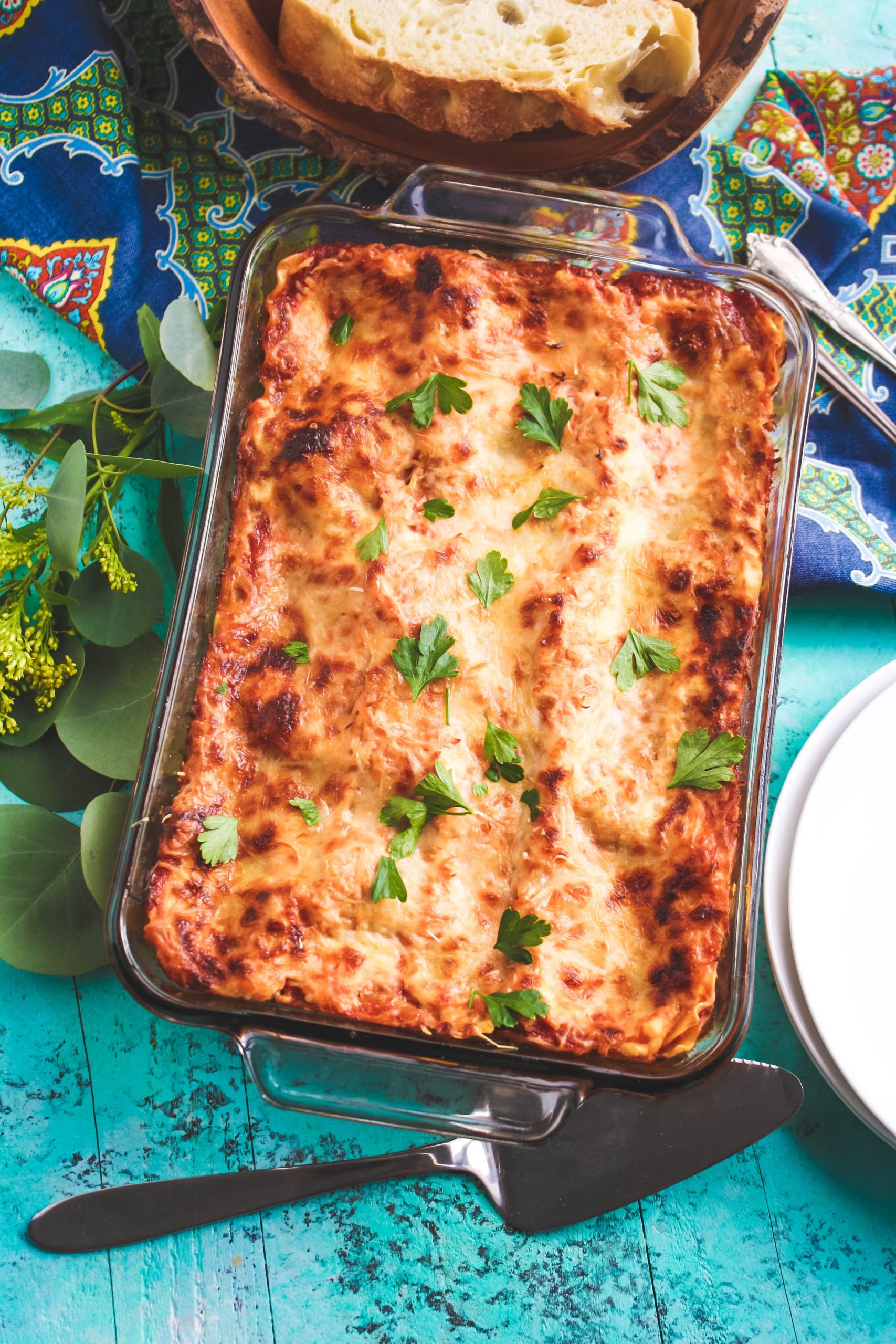 You'll love this Mushroom and Sausage Lasagna with its robust flavors!