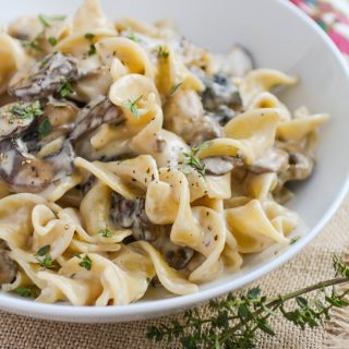 Mushroom Stroganoff makes a comforting, filling, and flavorful vegetarian meal. You'll love these noodles mixed with mushrooms and a creamy sauce.