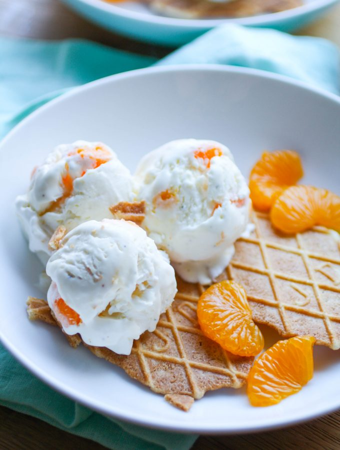 No Churn Orange-Cardamom Ice Cream