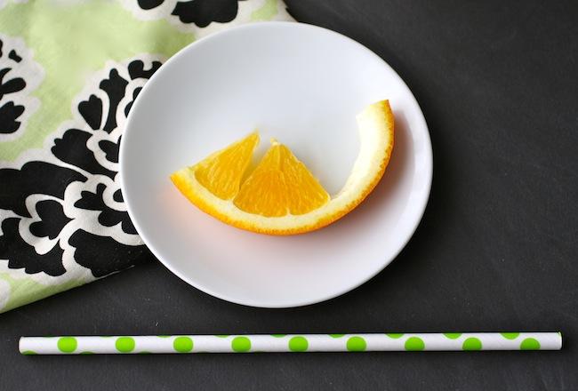 Orange peels from making Fresh Orange Juice & Ginger Smoothies