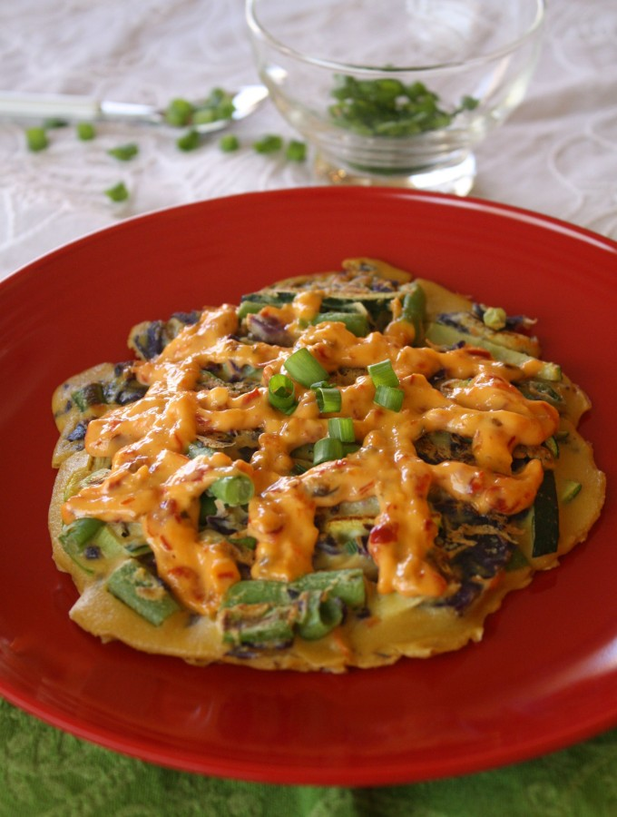 "Okonomiyaki (""Japanese pizza"" or ""pancakes"")"