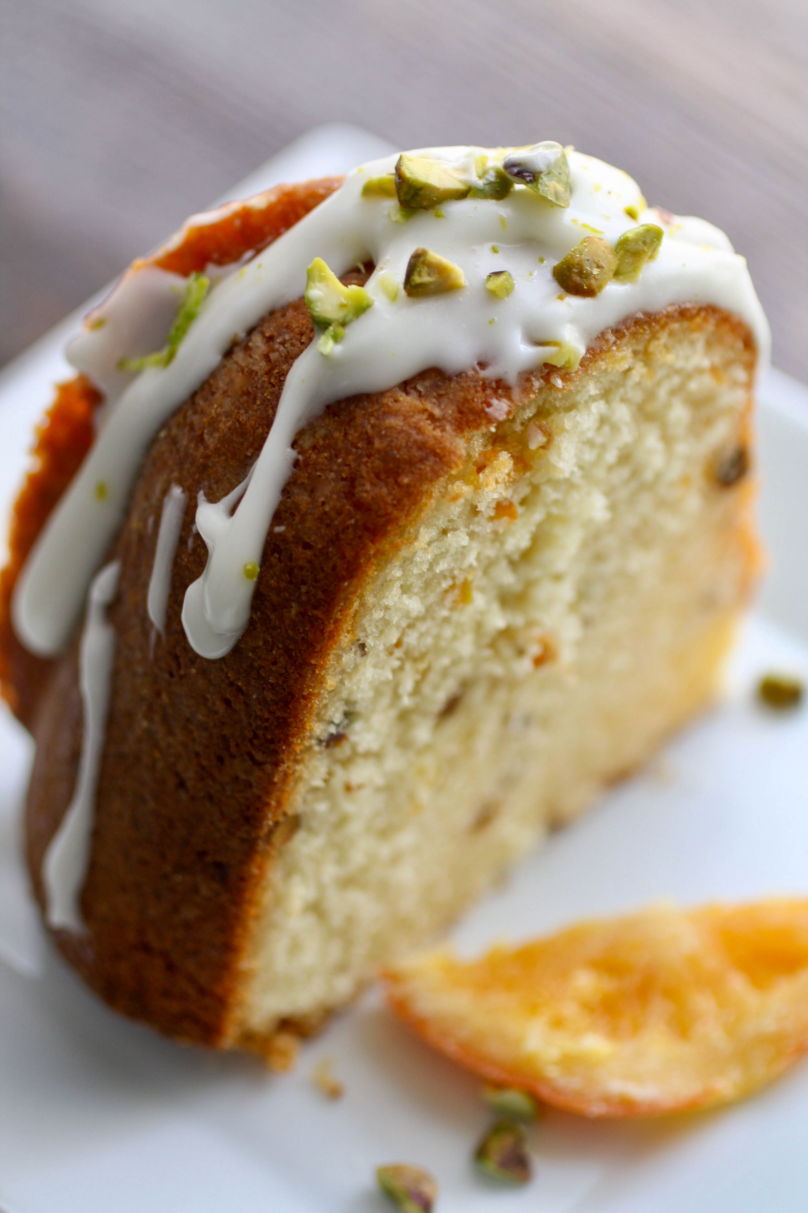Orange Marmalade-Pistachio Bundt Cake is a lovely dessert. Make it this spring!