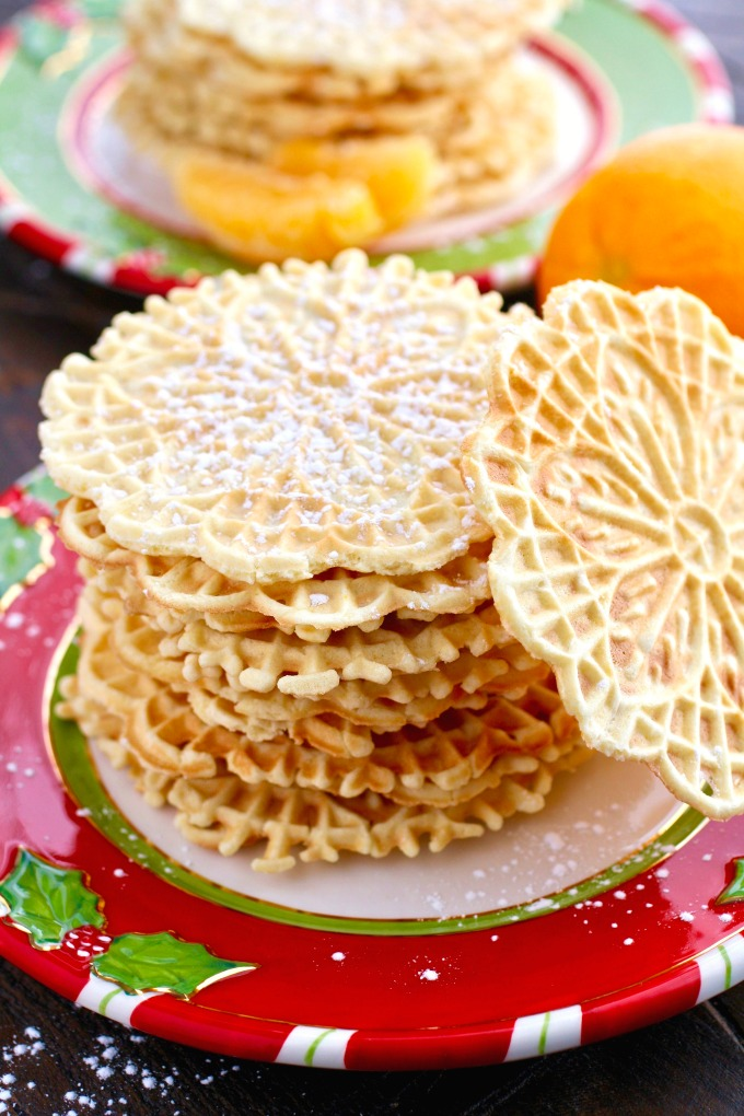 A classic Italian cookie that's easy to make and flavorful, too: Orange-Amaretto Pizzelle Cookies!