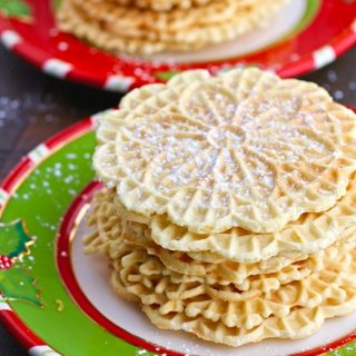 Orange-Amaretto Pizzelle Cookies are a lovely treat for the holidays!