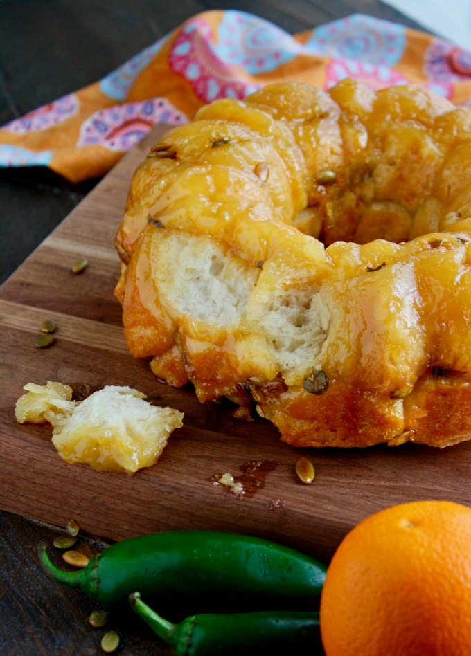 For a fun treat with unexpected flavors, try Jalapeño Monkey Bread with Pepitas!