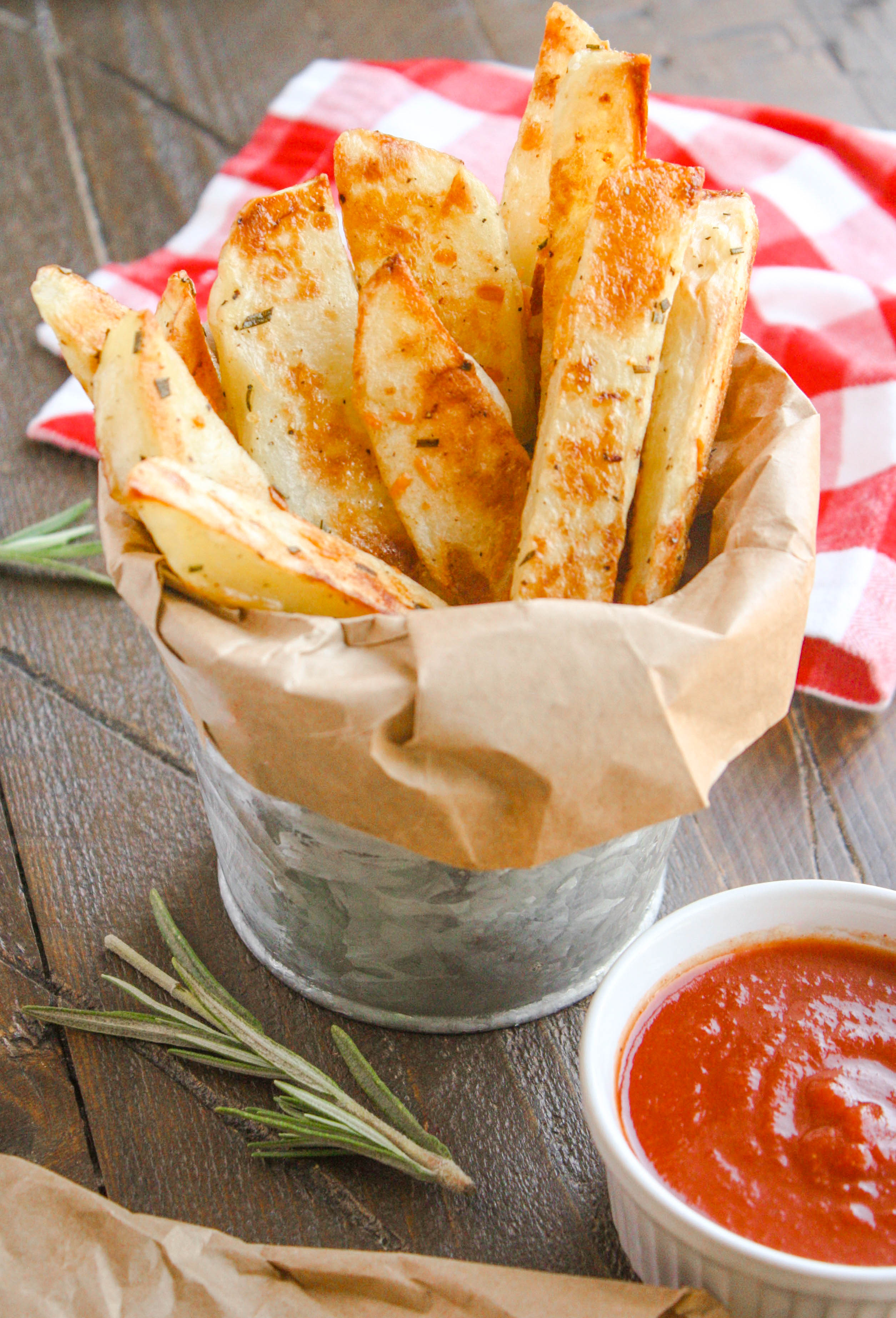 Oven Baked Rosemary Steak Fries Homemade Ketchup is the perfect side to any meal! You'll love this easy-to-make classic side!