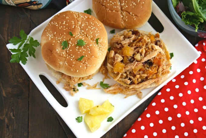 Lunch or dinner gets tasty with these Smoky Chicken Sandwiches with Chipotle Orange Pineapple Sauce!