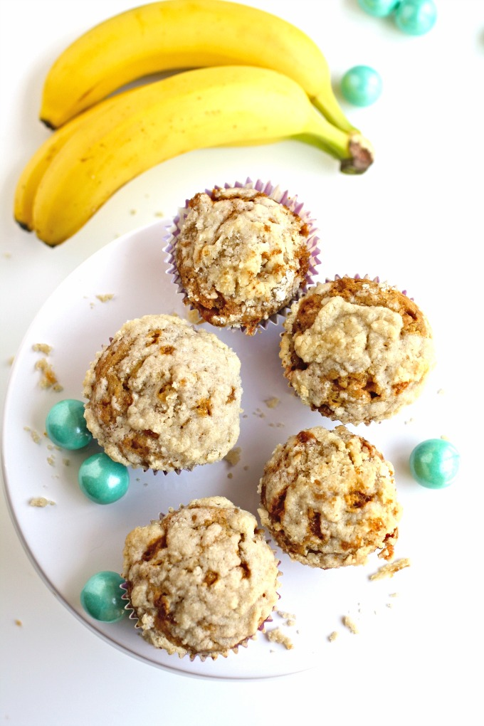 You'll enjoy a batch of Caramel Banana Muffins with Streusel Topping -- the perfect way to use up those ripening bananas!
