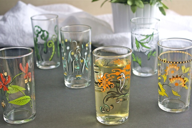 Set of six Floral Wine Glasses from UncommonGoods