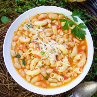 Pasta e Fagioli (Pasta and Beans) is a delicious Italian dish. You'll love how easy it is to make Pasta e Fagioli (Pasta and Beans).