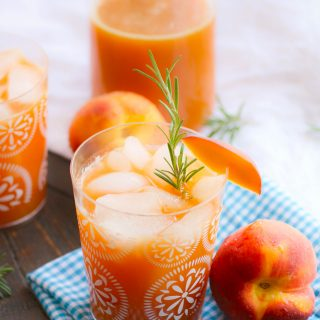 Peach-Rosemary Agua Fresca is a delightful drink everyone will love! Peach-Rosemary Agua Fresca is a drink for the summer, for sure!
