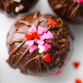 Peppermint Hot Chocolate Bombs are so fun to enjoy on a cold night.