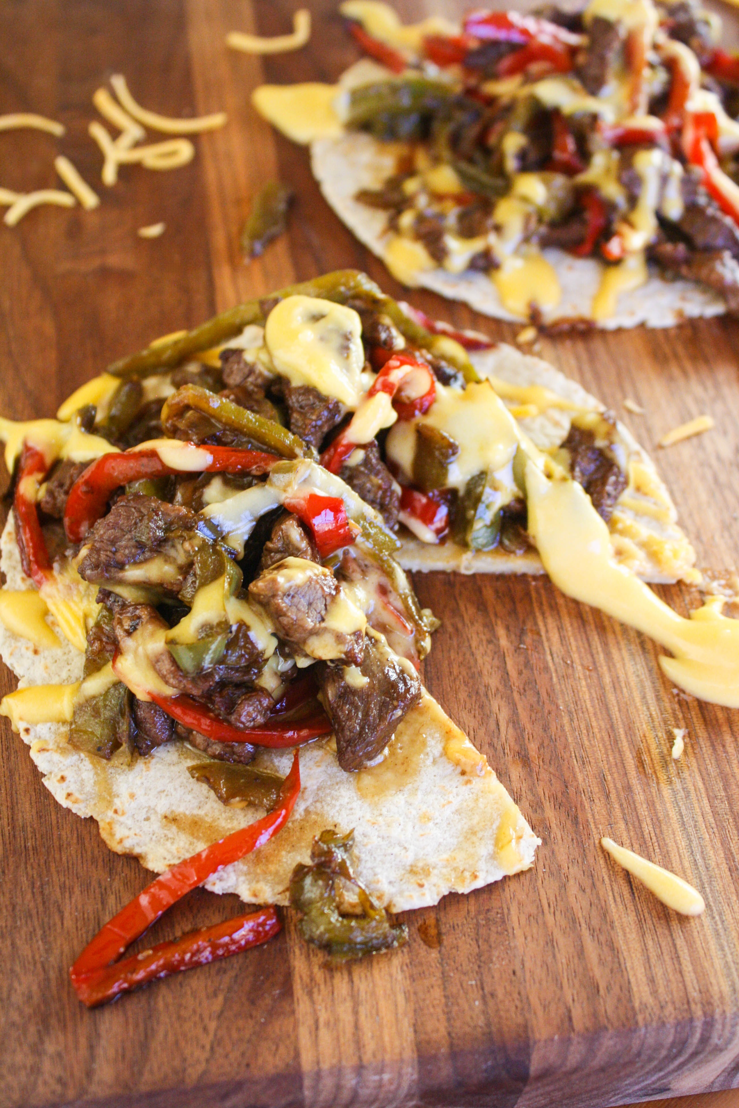 Philly Cheesesteak Tostadas make a tasty meal. You'll love these Philly Cheesesteak Tostadas for lunch or dinner.