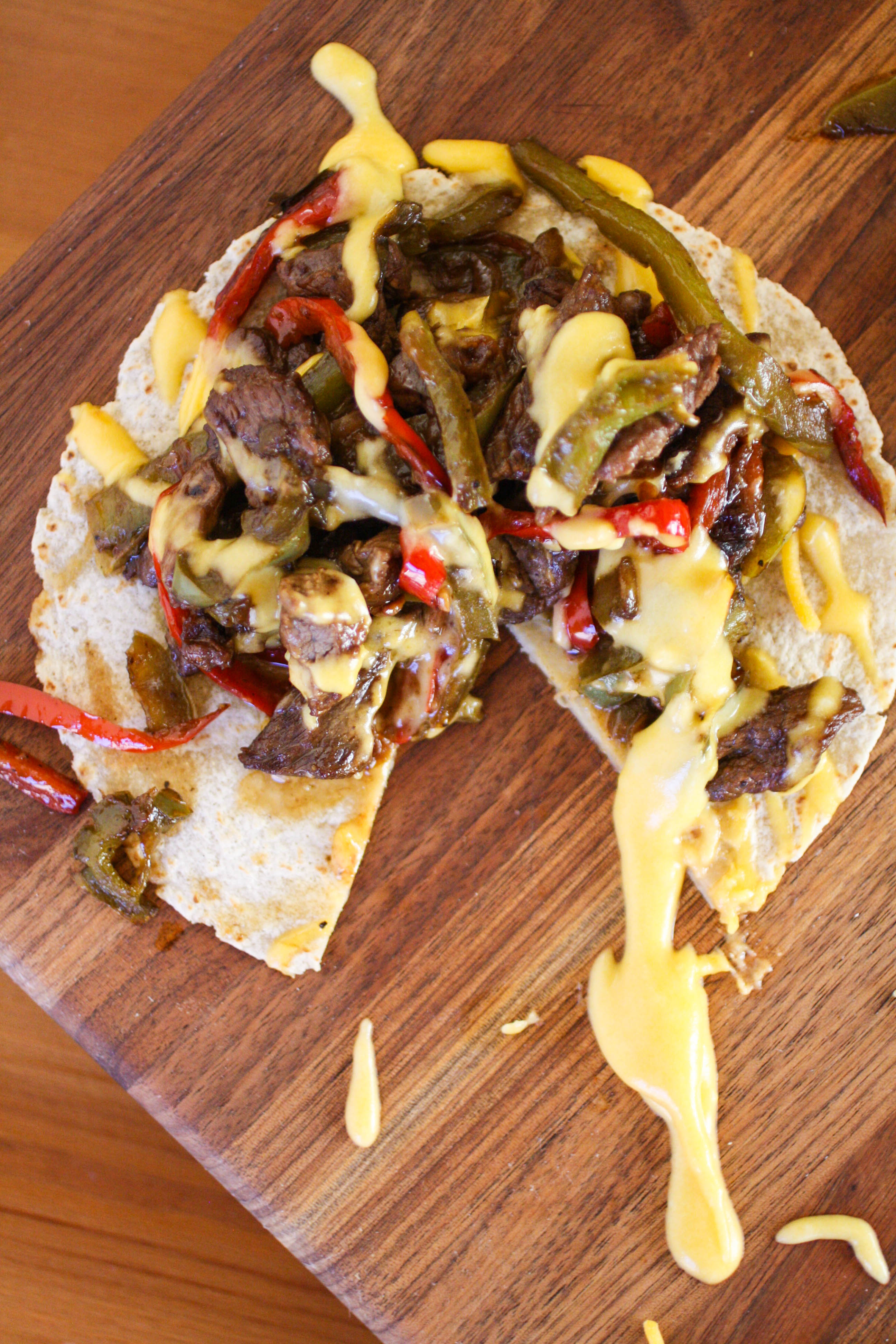Philly Cheesesteak Tostadas are a delicious meal! You'll love these flavorful and filling Philly Cheesesteak Tostadas.