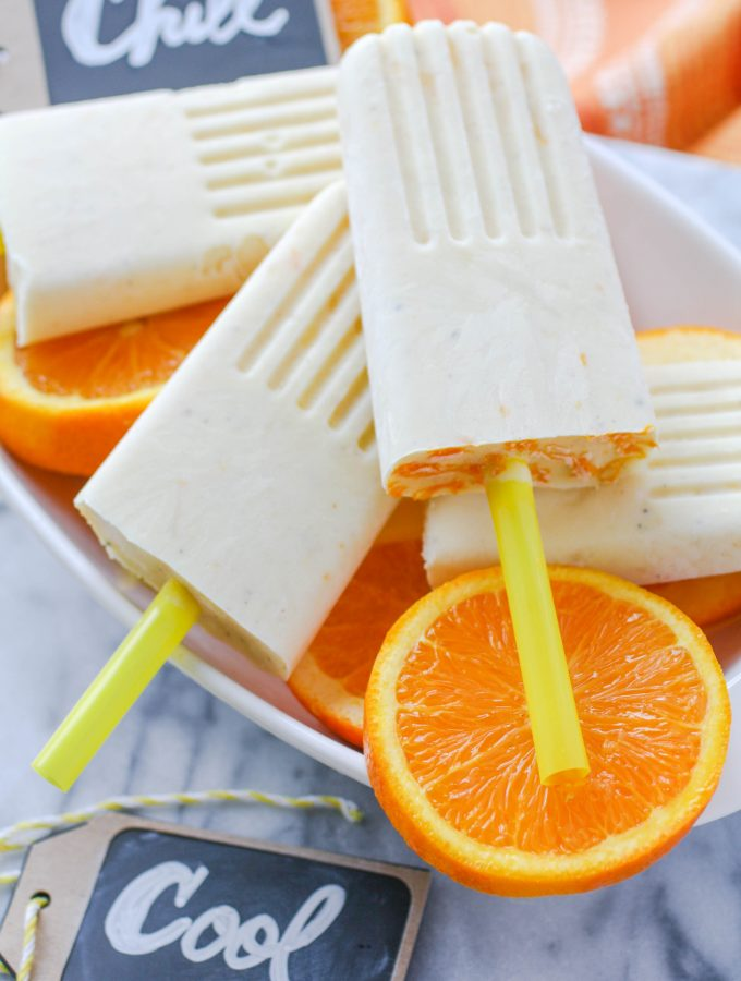 Pineapple-Orange & Cardamom Creamsicles
