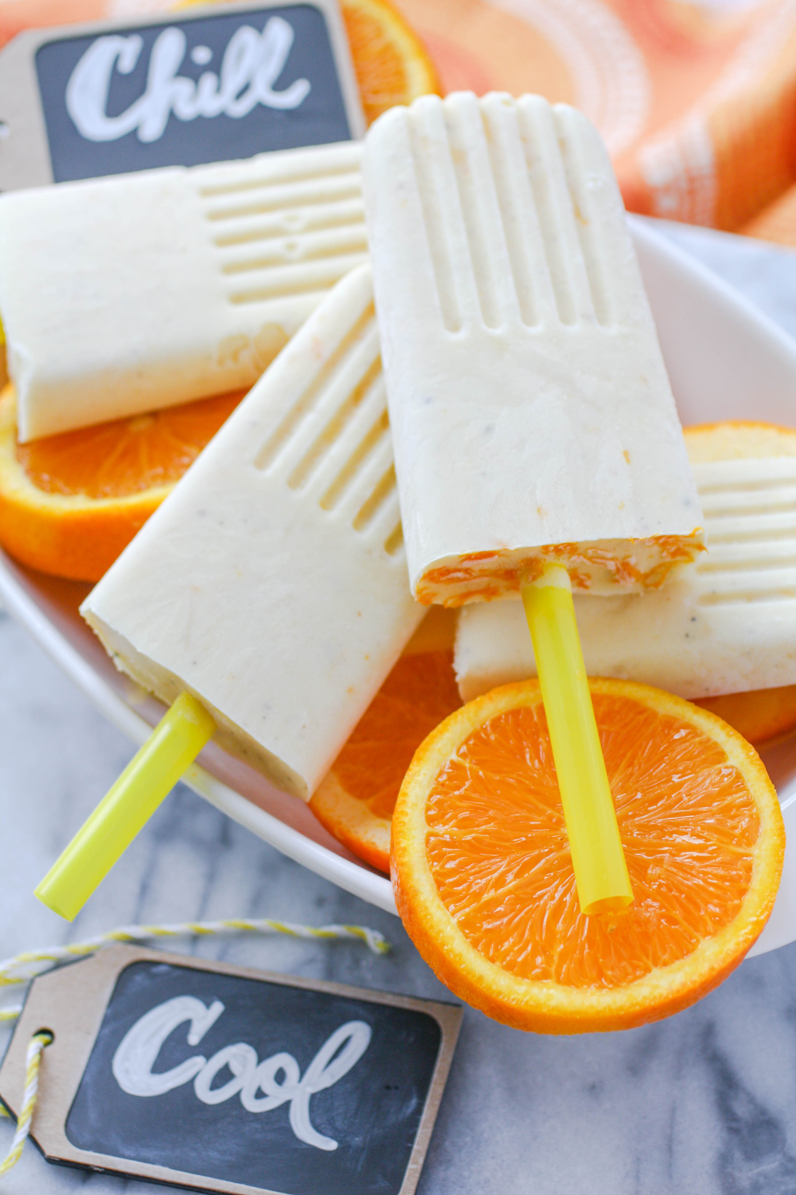Pineapple-Orange & Cardamom Creamsicles are a fabulous frozen treat! Pineapple-Orange & Cardamom Creamsicles are frosty fun for the summer!