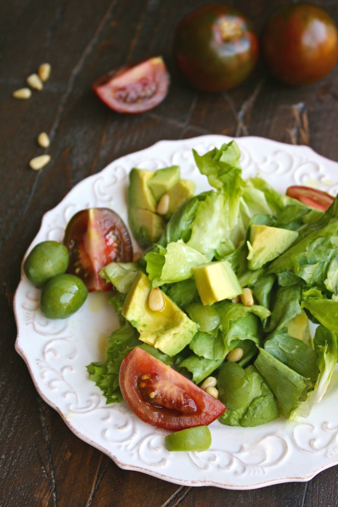 Plate up this Simple Summer Escarole Salad for a wonderful and flavorful meal!