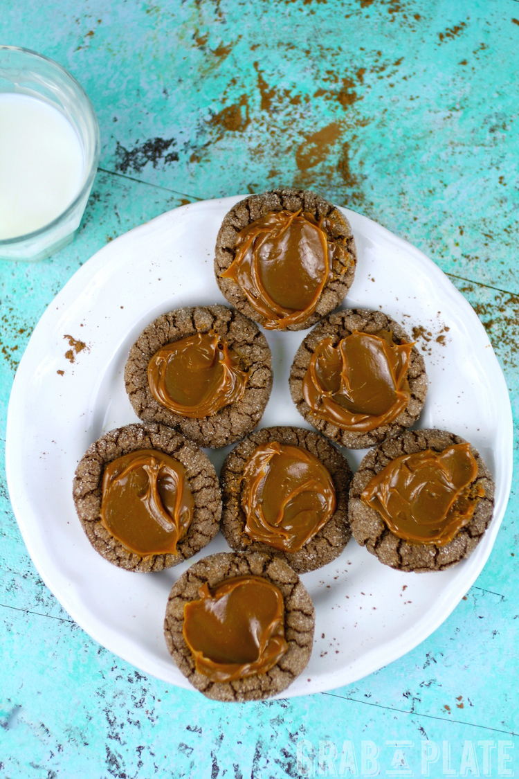 Chocolate-Chili Thumbprint Cookies with Dulce de Leche make an incredible treat, and are easy to make!