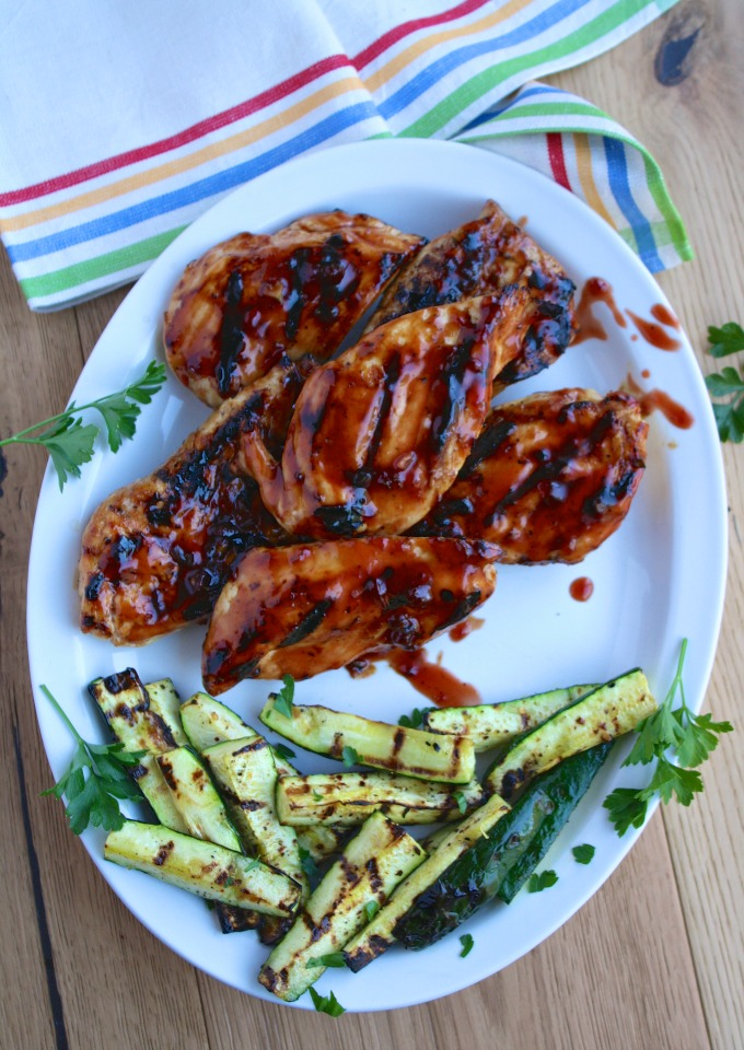 Perfect for a cookout or a get-together: Grilled Chicken with Cherry-Chile Sauce