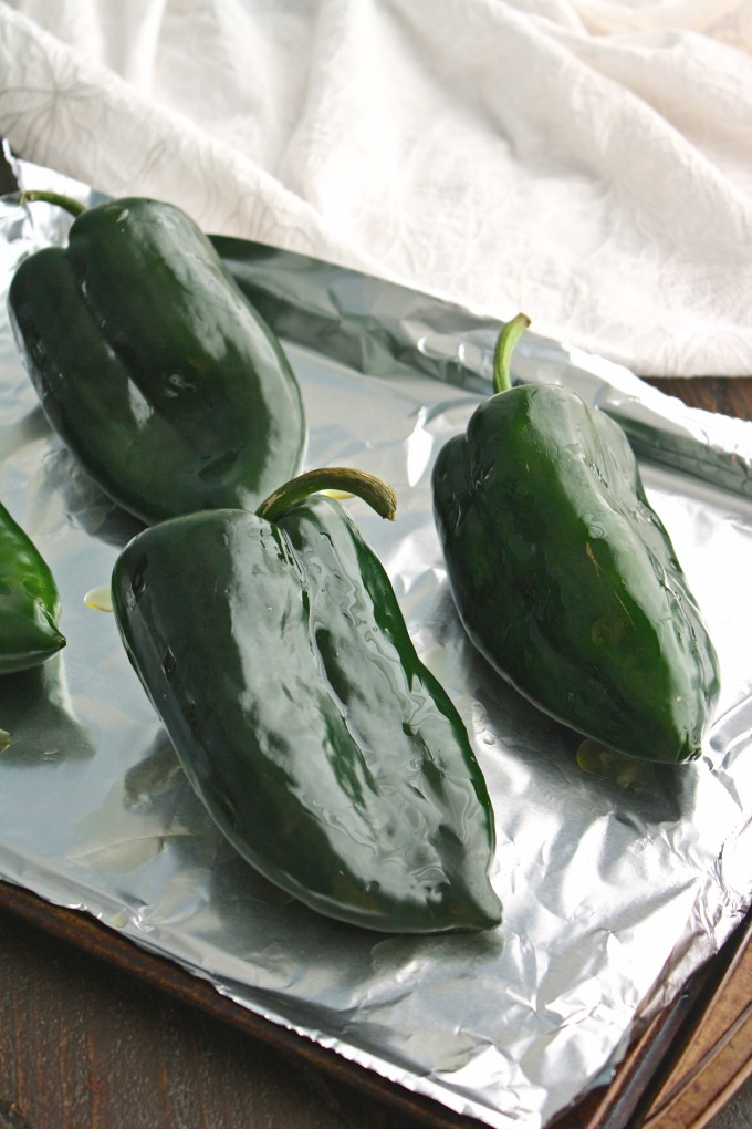 These poblano peppers are just perfect for Black Bean and Rice Stuffed Poblano Peppers with Avocado Cream!