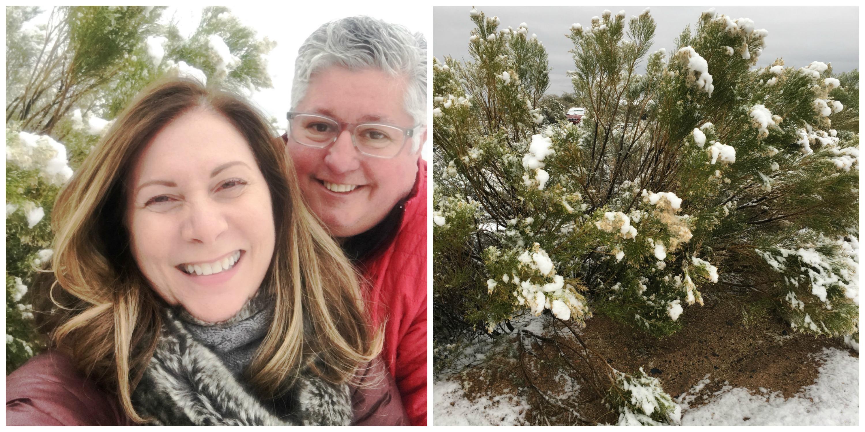 Fun in the snow in Arizona!