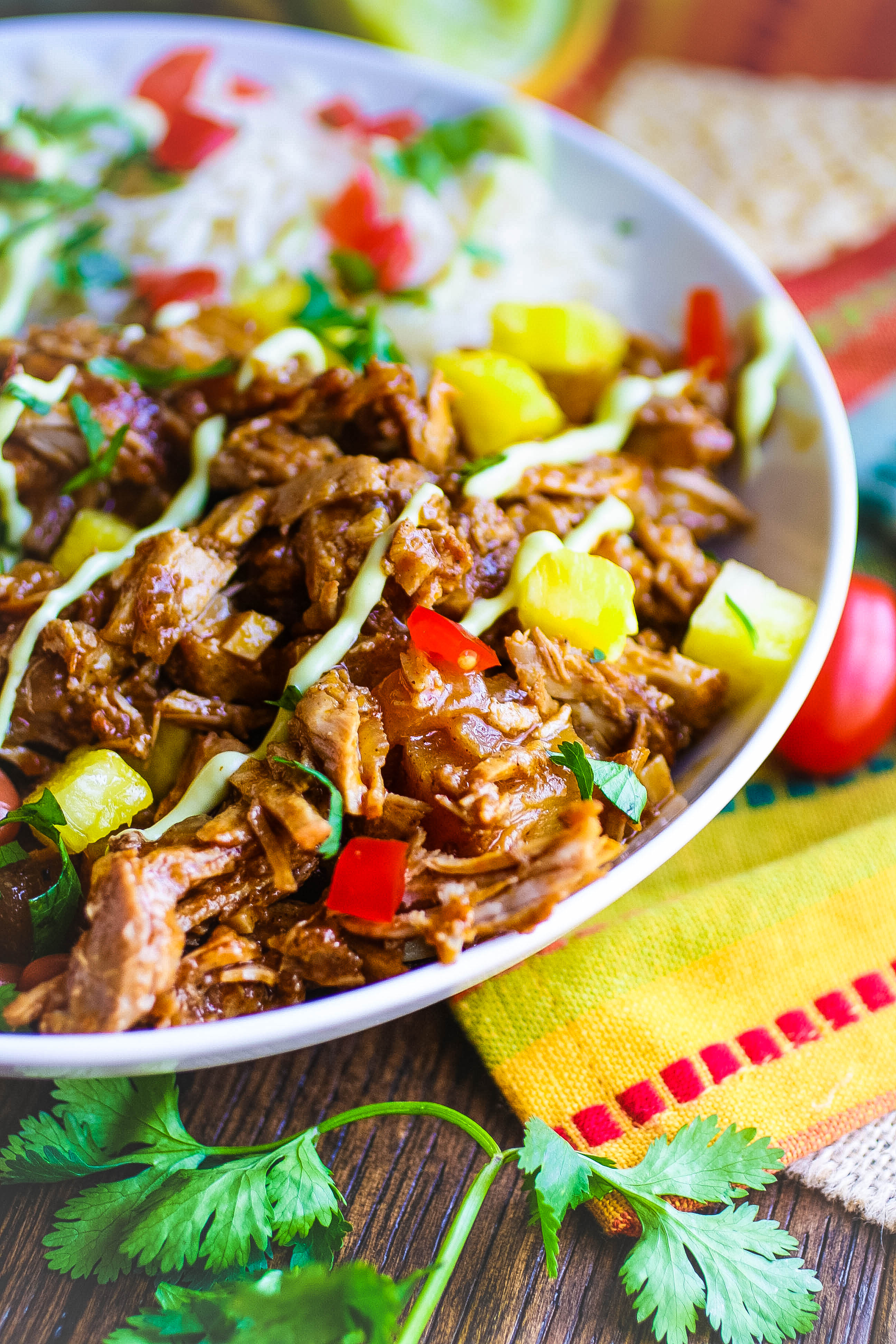 Pork al Pastor Bowls make mealtime fun and flavorful! Pork al Pastor Bowls are what you need for a great meal!