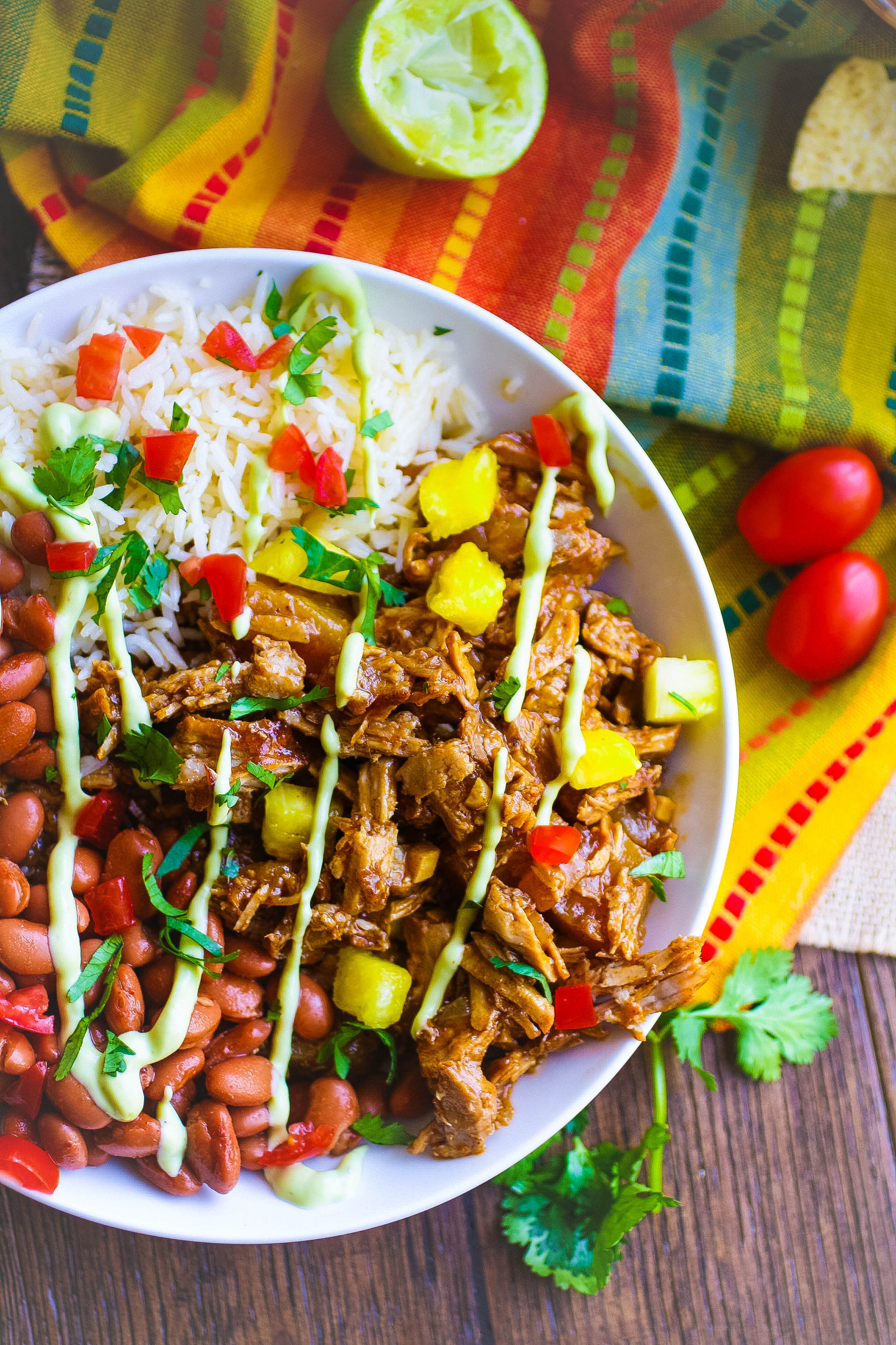 Pork al Pastor Bowls will soon be a favorite meal in your home! Pork al Pastor Bowls are fun to serve and a delight to eat!