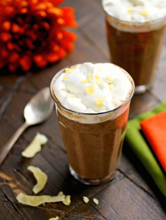 Pumpkin Mochas with Ginger Whipped Topping