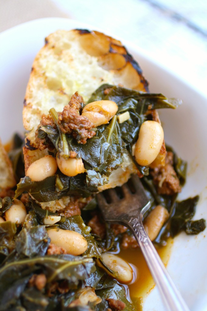 You'll love Quick Collard Greens with Sausage and Beans as a side dish for New Year's Day.