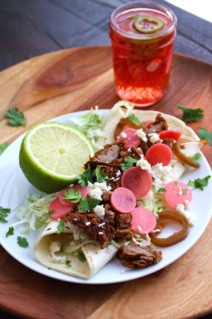 Serve Quick, Spicy Pickled Radishes on tacos, burgers, or salads!