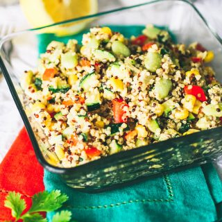 Quinoa Succotash with Spiced Tahini Dressing is a delightful side dish. Make Quinoa Succotash with Spiced Tahini Dressing for your next meal.