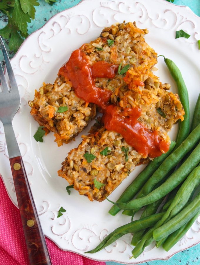 Rice and Lentil Loaf is a wonderful meatless dish everyone will love. A classic comfort dish with a twist!