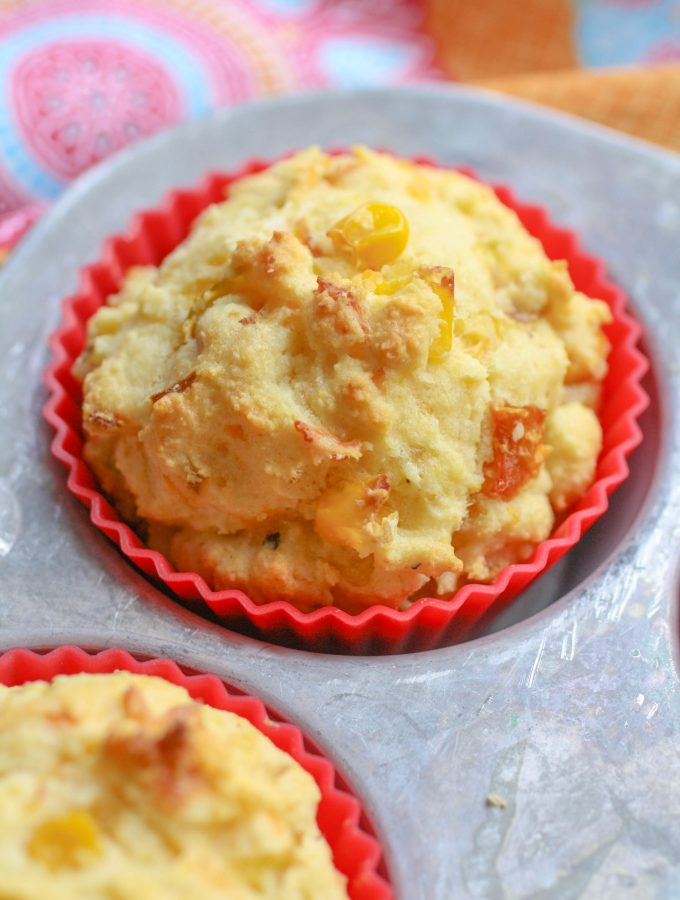 Roasted Green Chile Cornbread Muffins are perfect with so many things! You'll love them.