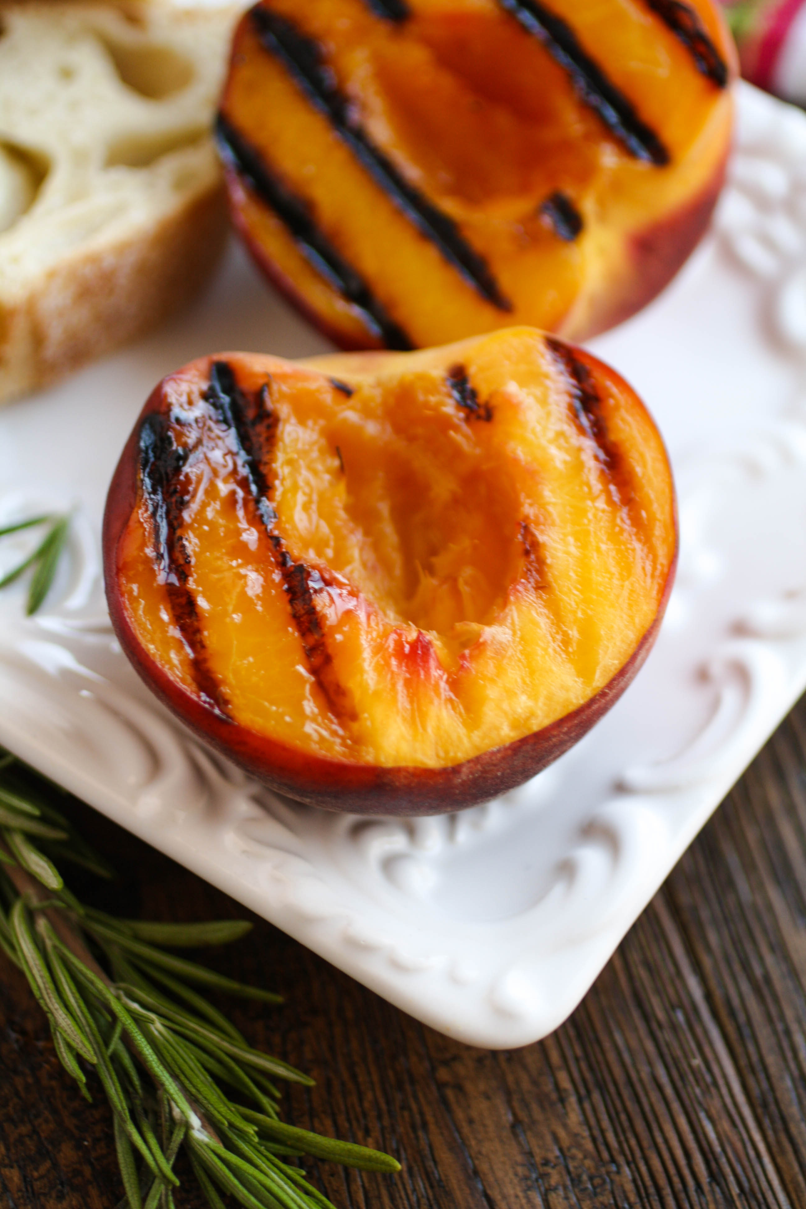 Rosemary Whipped Feta with Grilled Peaches and Honey is a fun party treat! This appetizer will steal the show!
