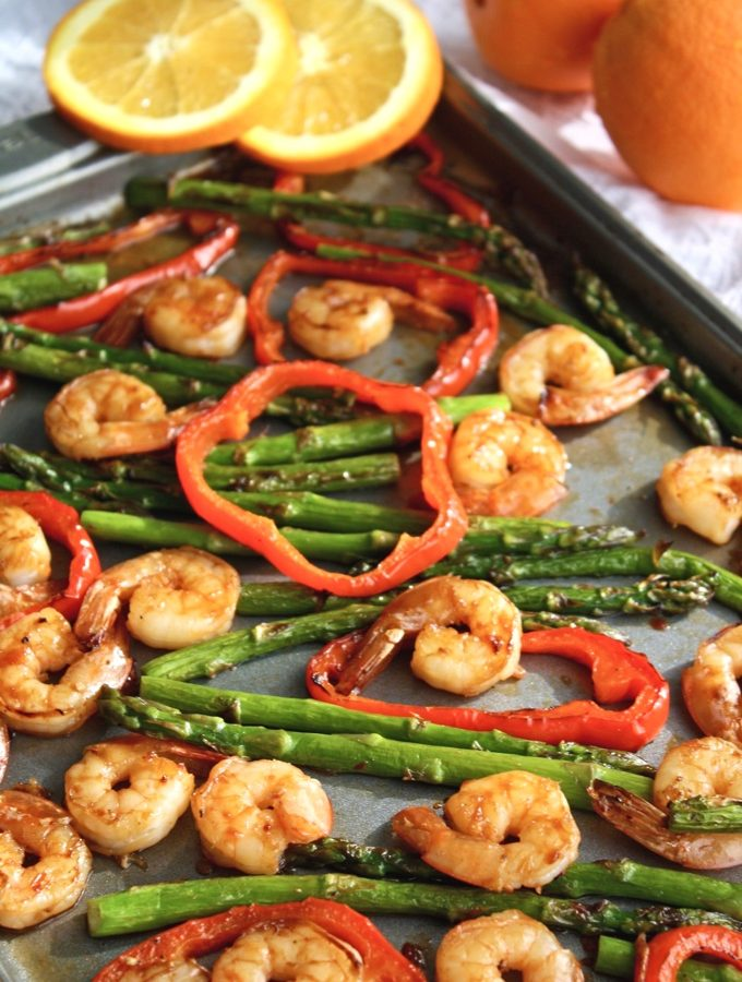 Sheet Pan Spicy Orange Shrimp with Vegetables