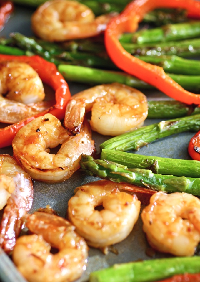 Sheet Pan Spicy Orange Shrimp with Vegetables is the sort of dish you'll want to dig into. You'll love the flavors!