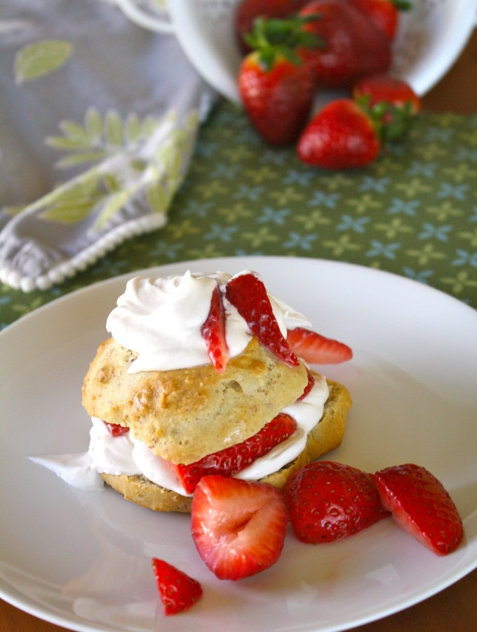 Vegan Strawberry Shortcake with Whipped Cream