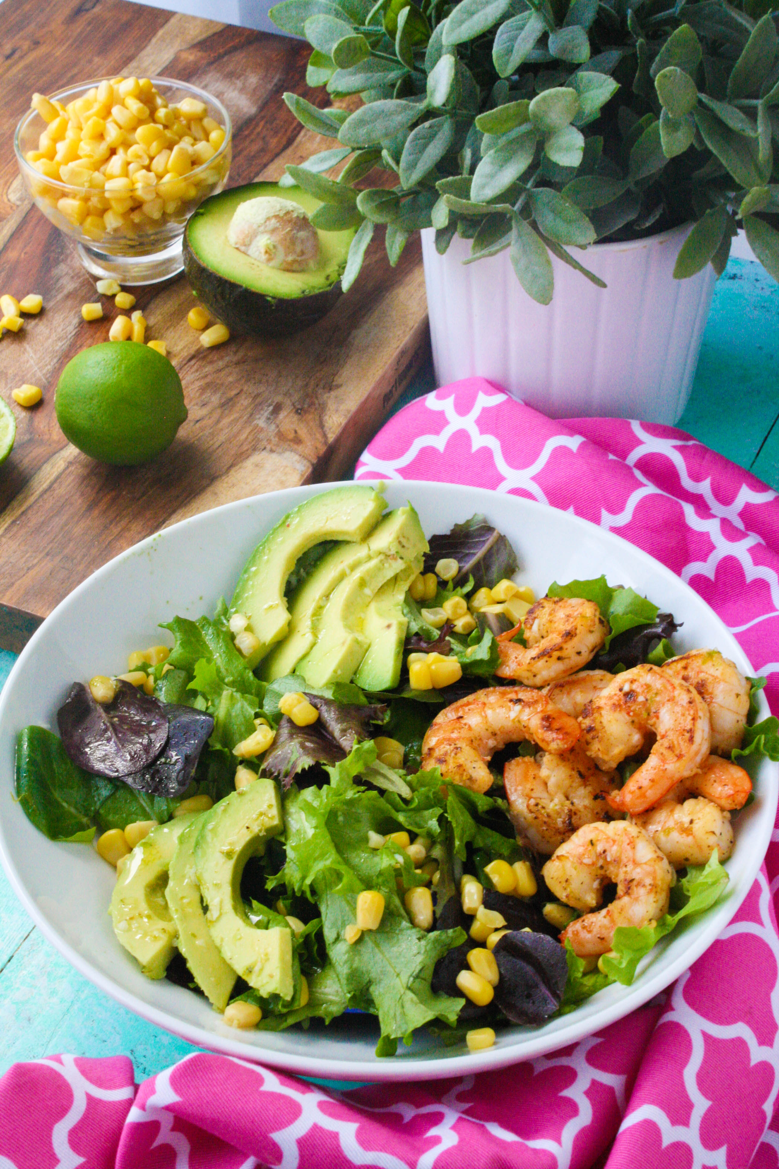 Simple Skillet Shrimp Salad with Lime Vinaigrette is a lovely salad that's easy to put together! Simple Skillet Shrimp Salad with Lime Vinaigrette is filling and flavorful!