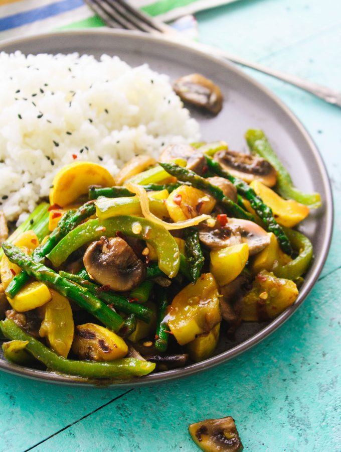 Simple Sweet & Spicy Vegetable Stir Fry