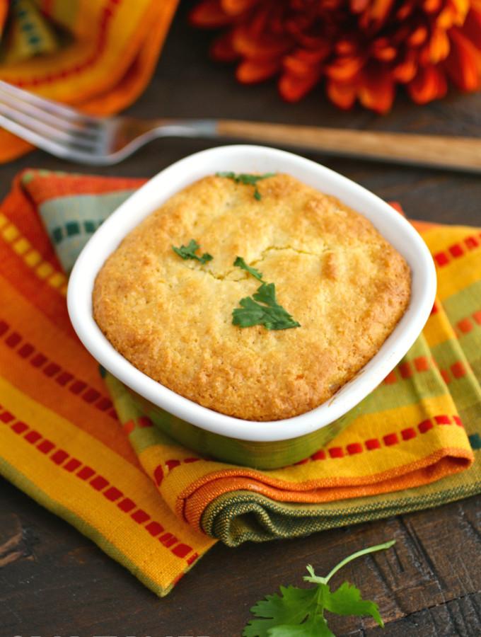 Enjoy Mini Turkey Cornbread Pot Pies as a way to use leftover turkey!