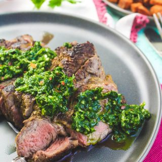 Skillet-Cooked NY Strip Steak with Chimichurri Sauce is a lovely main dish meal. Skillet-Cooked NY Strip Steak with Chimichurri Sauce is an easy-to-make main dish that will delight!
