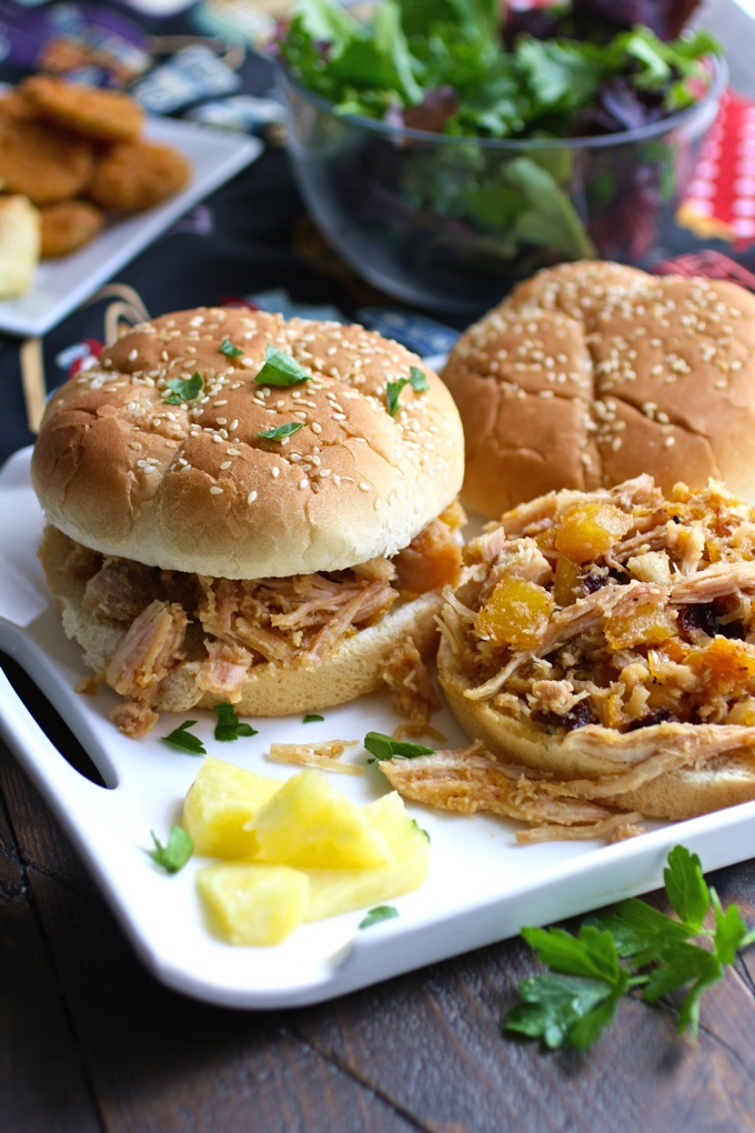 These Smoky Chicken Sandwiches with Chipotle Orange Pineapple Sauce have wonderful flavor -- nothing better than the sweet-and-spicy combo in a hearty sandwich!